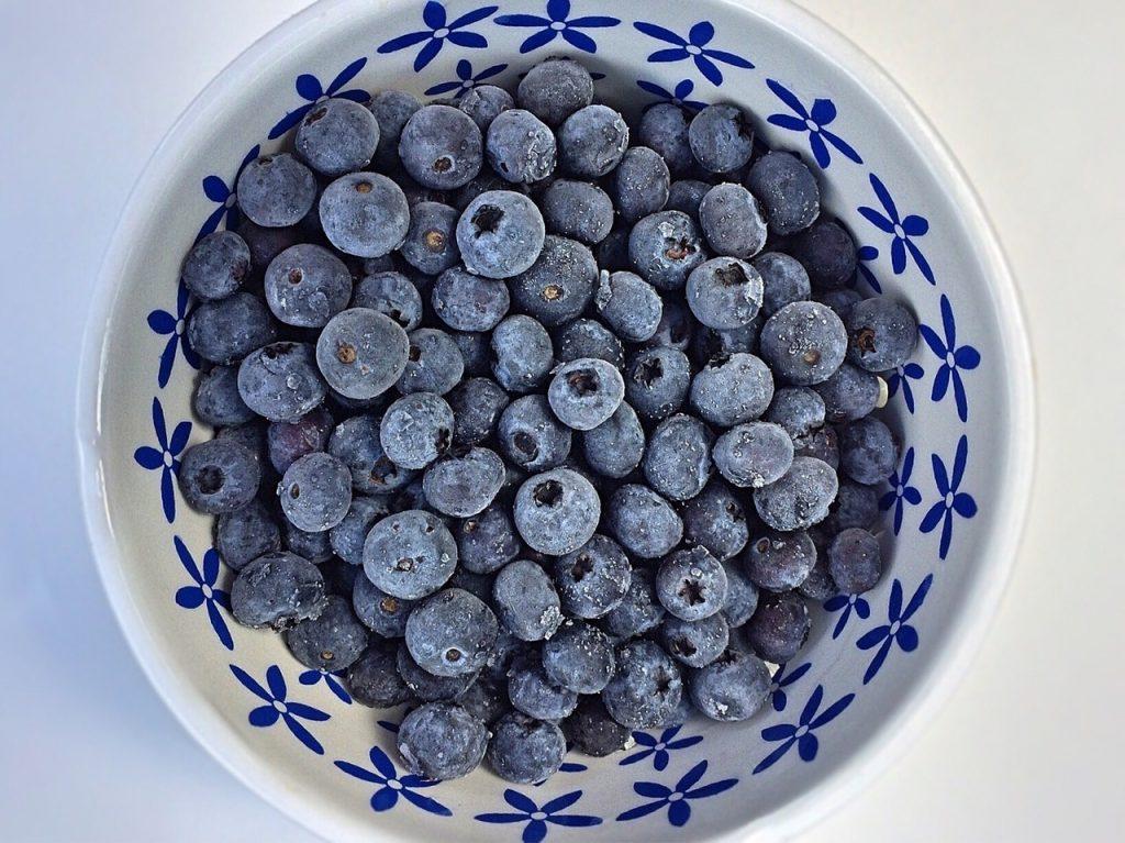 blueberries, fruit, bowl
